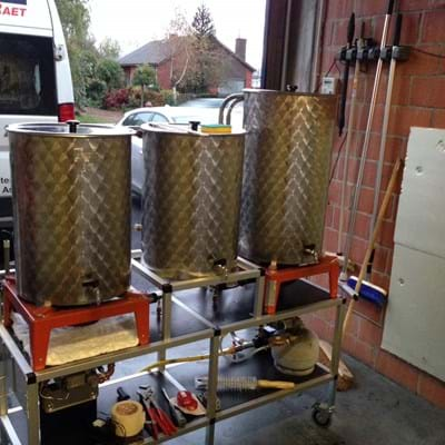 HERMS Beer Brewing Installation