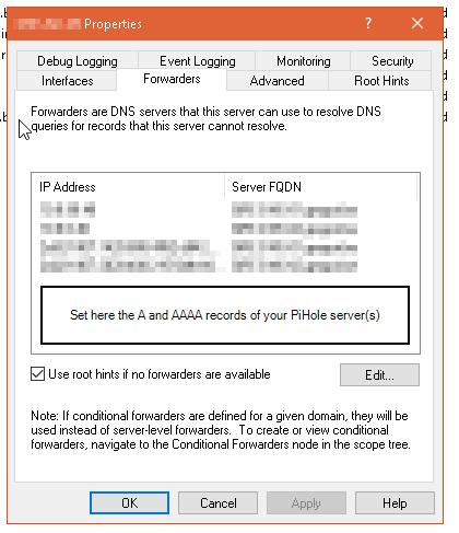 Set up PiHole on Debian within a Windows domain